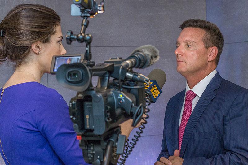 Mark Stagg on camera