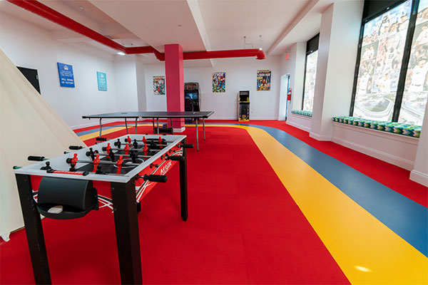Stagg Family Center game room
