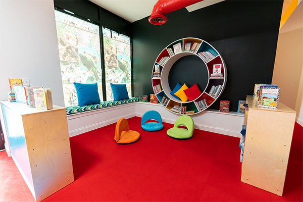 Stagg Family Center reading area